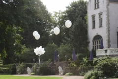 Außendekoration Hochzeit