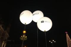 Aussendekoration LED Ballons NDR Weihnachtssingen