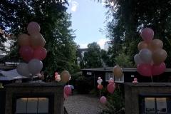 Aussendekoration Ballonsträusse