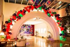 festliche Raumdekoration Elysee Hotel Hamburg mit Ballons