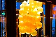 Raumdekoration Le Meridien Hamburg mit Ballons