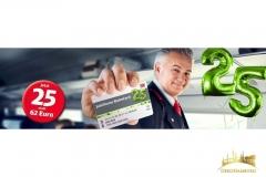 Marketingaktion Deutsche Bahn Bahncard Ballonzahlen