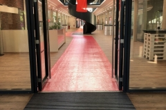 Teppichverlegung roter Teppich