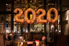 Silvesterdekoration 2020 im Hotel The George