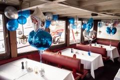 Silvesterdekoration 2020 auf dem Feuerschiff Hamburg