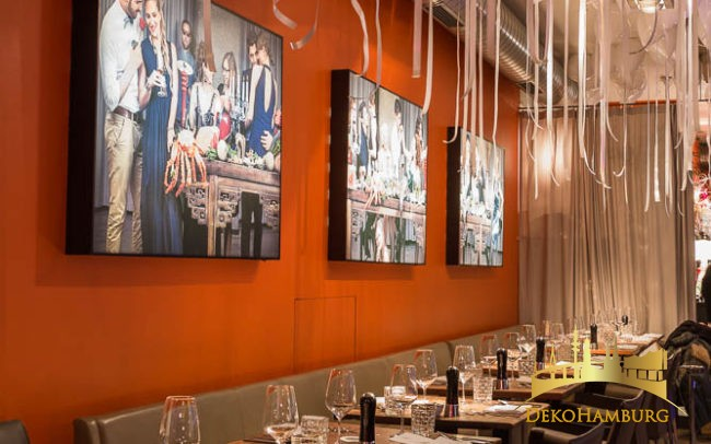 Restaurantdekoration für Silvester von Dekohamburg