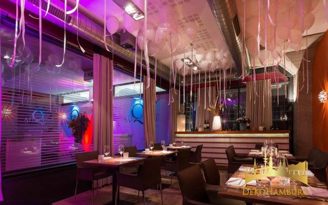 Ballonhimmel im Restaurant zu Silvester