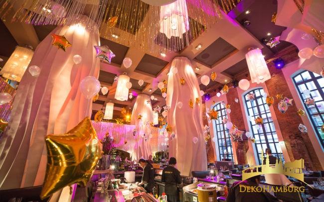 Ballondekoration im East Hotel Restaurant
