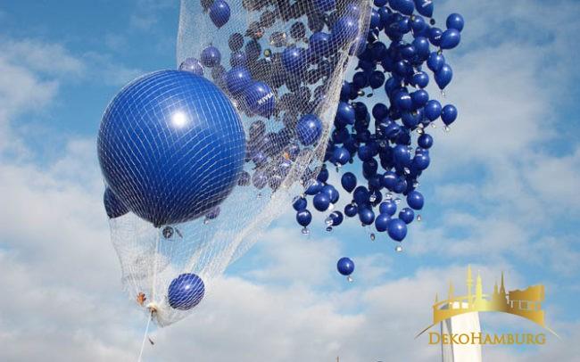Ballonrelease startet und Nivea Ballons steigen auf