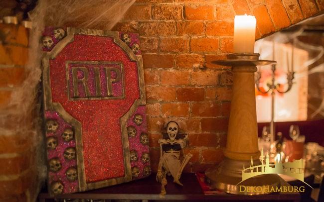 Dekoration zur Halloweenparty