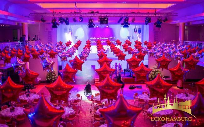 Ballondekration Weihnachtsfeier Elysee Hotel
