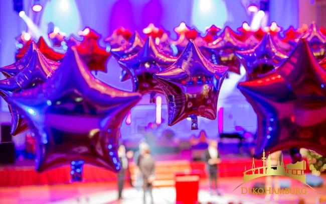Nahaufnahme Sternenballons Elysee Hotel