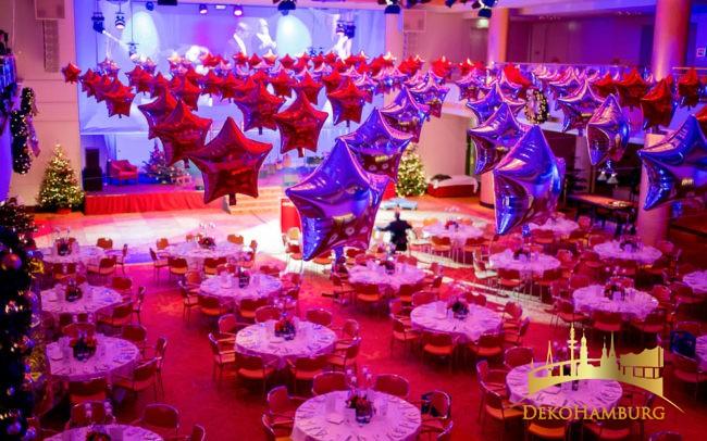 Ballongirlande aus Sternenballons Elysee Hotel
