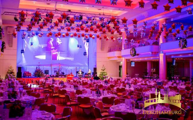 Großer Festsaal mit Ballondekoration Elysee Hotel