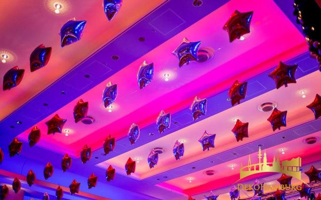 Sternenballons Weihnachtsdekoration Elysee Hotel