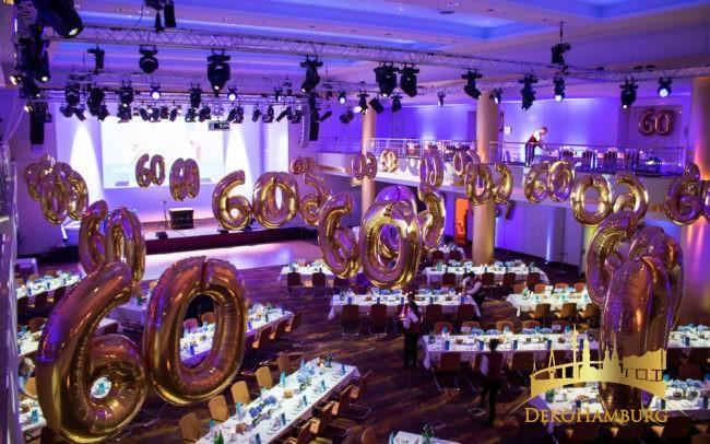Geburtstagsdekoration zum 60. Geburtstag