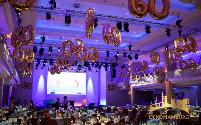 Ballonzahlen als Dekoration für Geburtstag