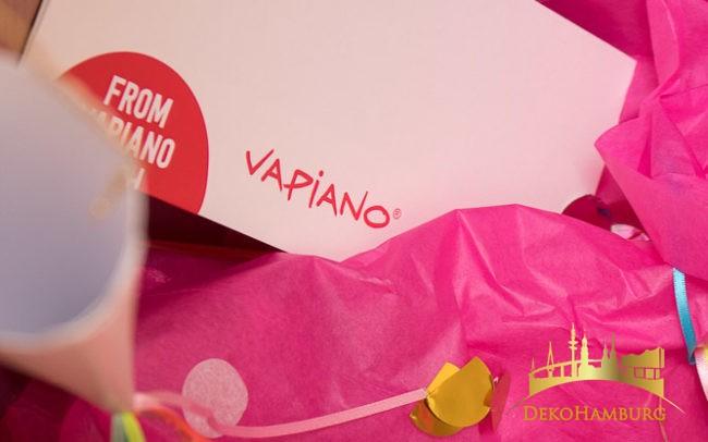 Vapiano Grußkarte im Dekorationspaket