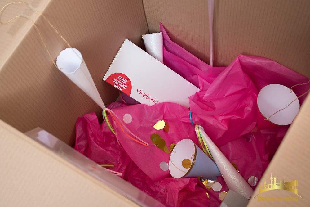 Partyartikel in Paket Marketingaktion