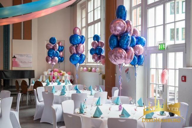 Runde Folienballons Ballonsträuße Dekoration