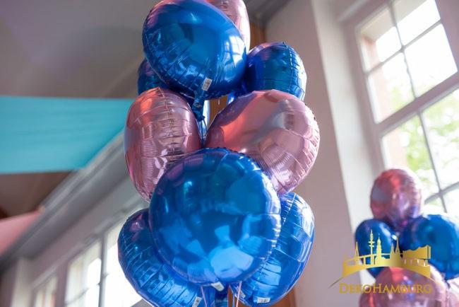 Folienballon Strauss rosa blau Bat Mitzwa